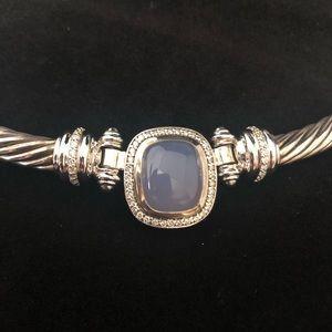 David Yurman Jewelry - David Yurman Necklace Diamond 18k Gold Sterling